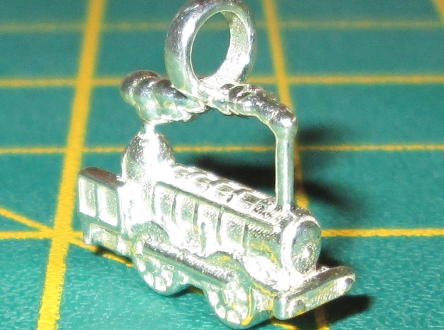 Locomotive Coppernob Jewellery Pendant in Polished Silver
