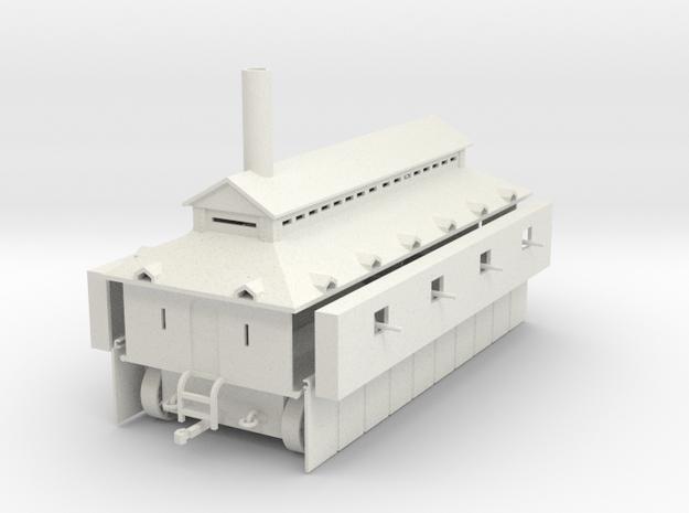 1/100 Locomotive Fort in White Natural Versatile Plastic