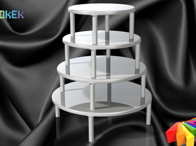 Cake stand L (16cm) 3d printed Stacked on top of each other