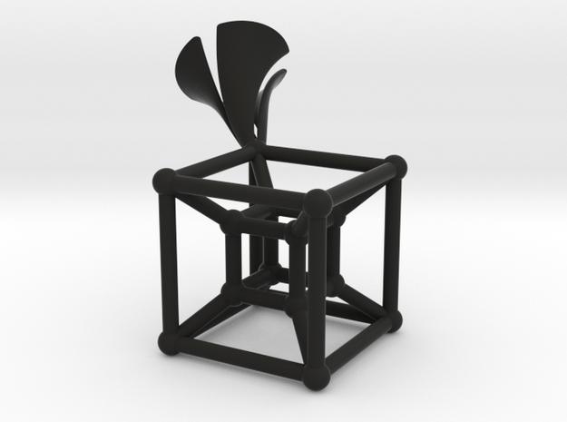 HyperCube Type 2 in Black Natural Versatile Plastic