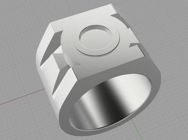 Green Lantern Ring size 4 3d printed Render of ring