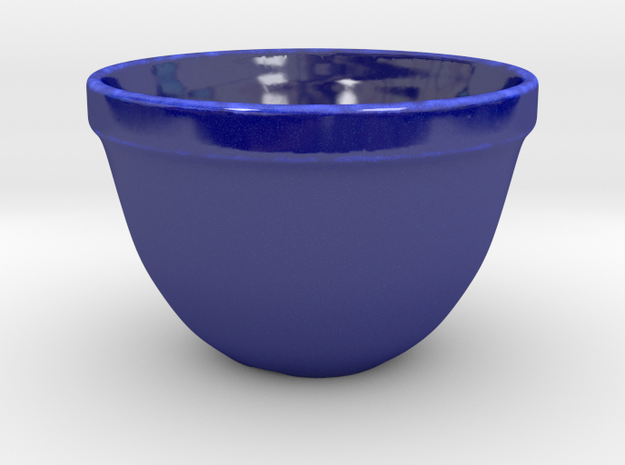 Old Bowl Replica in Gloss Cobalt Blue Porcelain