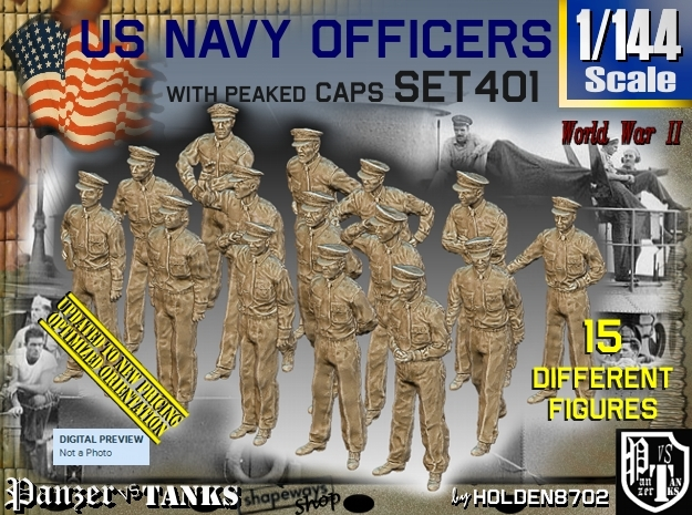 1/144 USN Officers Set401