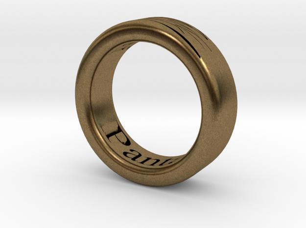 Panta Rhei Ring  in Raw Bronze