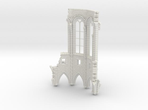 HORelRu01 - Great ruin of Gothic church in White Natural Versatile Plastic