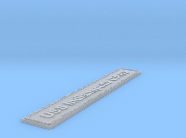 Nameplate: USS Indianapolis CA-35 in Smoothest Fine Detail Plastic