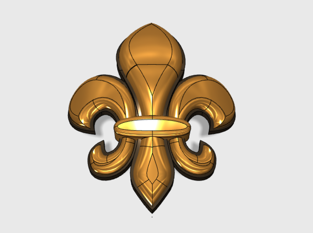 60x Fleur-De-Lis : Shoulder Insignia pack in Frosted Ultra Detail