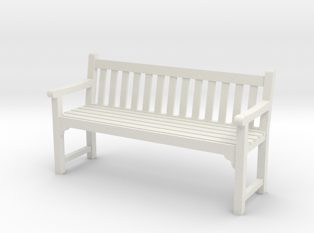 Park Bench  in White Natural Versatile Plastic