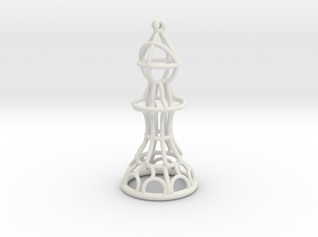 Hollow Chess Set - Bishop in White Strong & Flexible