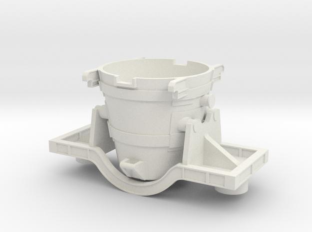 Iron Ladle Car - Oscale in White Natural Versatile Plastic