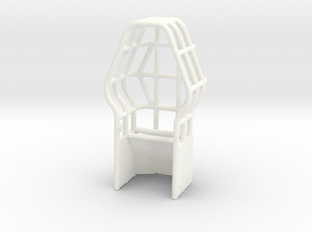 Roll Cage Diamond Shape in White Processed Versatile Plastic