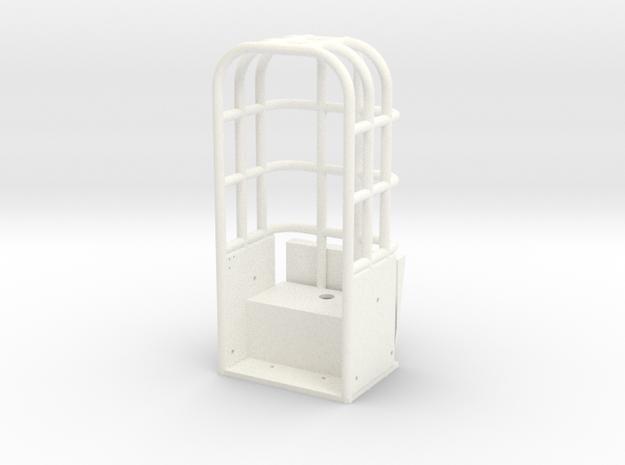 Custom Rollcage Straight Sides in White Processed Versatile Plastic