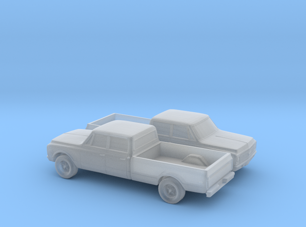 1/160 2X 1971-72 Chevrolet C-Series Crew Cab in Smooth Fine Detail Plastic
