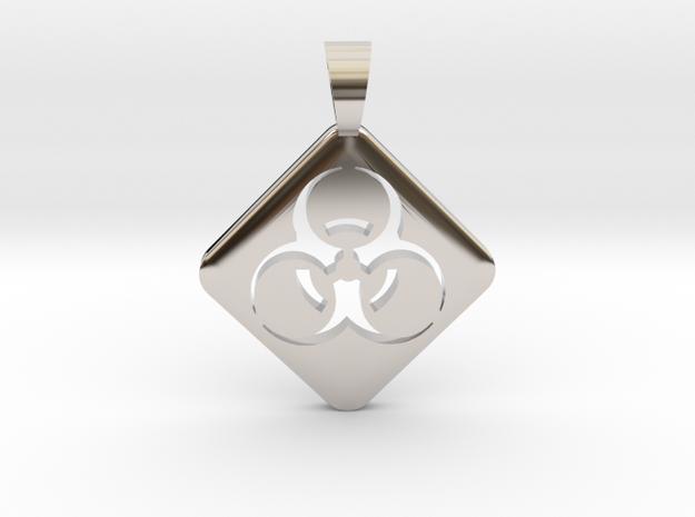 BIOHAZARD ! [pendant] in Rhodium Plated