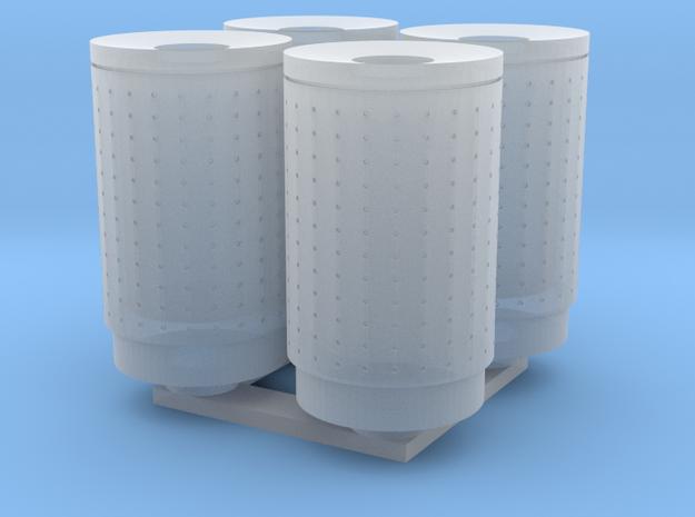 DSB 80L Affaldsbeholder (4stk) 1:87 in Smooth Fine Detail Plastic