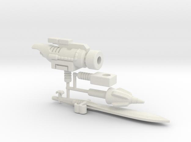 Dinobot Slug's Arsenal, 5mm (PotP) in White Strong & Flexible