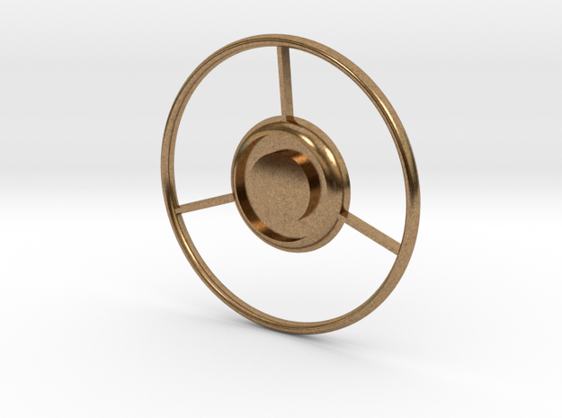 Sea Maid Steering Wheel Horn Ring Upgrade in Natural Brass