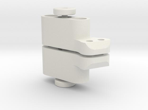 TC4 Camber Link Mount 2POS (Pair) in White Natural Versatile Plastic