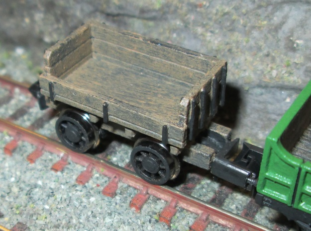 N Gauge Ballast Truck in Smooth Fine Detail Plastic