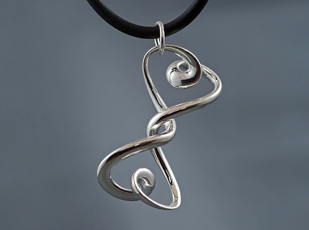 Hourglass in Fine Detail Polished Silver
