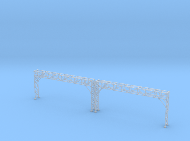 N Scale Signal Bridge Gantry 4 tracks 2pc in Smooth Fine Detail Plastic