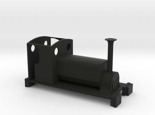 Freelance Manning Wardle 0-4-0ST - Non Motorised in Black Natural Versatile Plastic