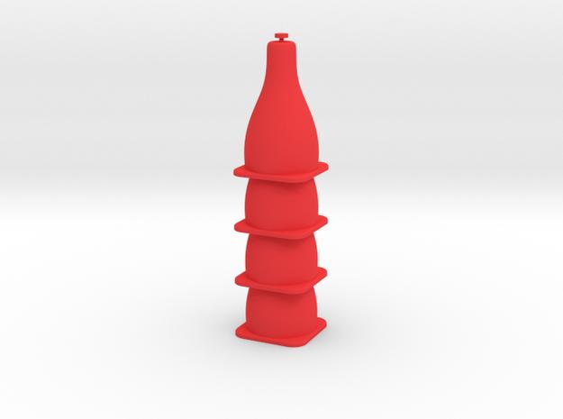 Tiny Traffic Cone 4 Pack in Red Processed Versatile Plastic