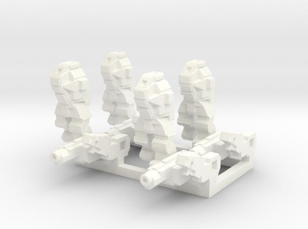 Ares MkIII Squad in White Processed Versatile Plastic
