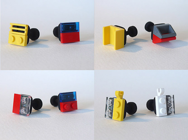 bX Cufflinks 3d printed Black Strong & Flexible (Lego pieces not included)