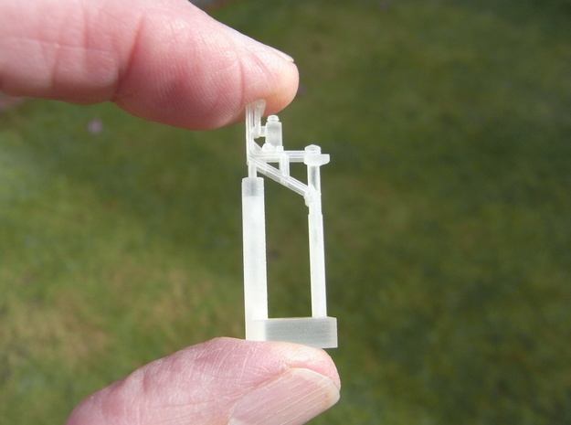 LMS Restricted Height Signal 4mm  in Smooth Fine Detail Plastic