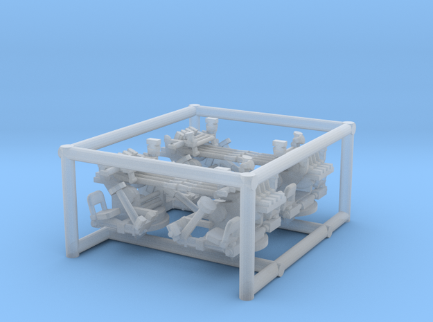 4 X 1/144 IJN Type 93 13mm Quad Mount in Smooth Fine Detail Plastic