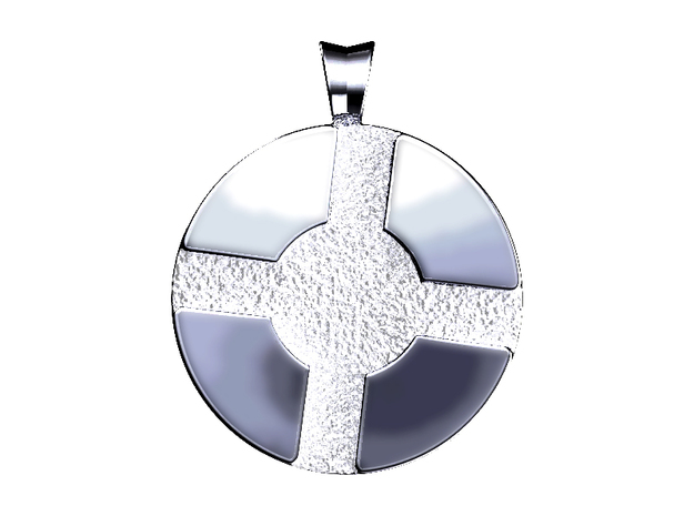 Team Fortress 2 Pendant in Polished Silver