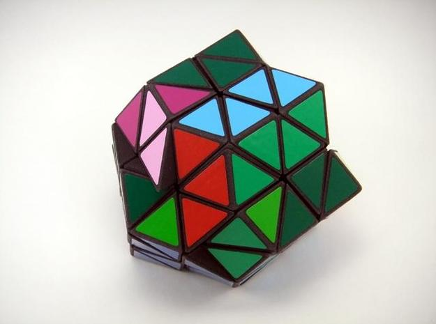 Rhombic18 Puzzle set A 3d printed Multiple Turns