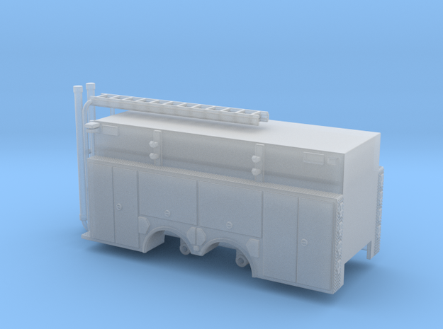 1/160 Pumper Tanker body compartment doors in Smooth Fine Detail Plastic