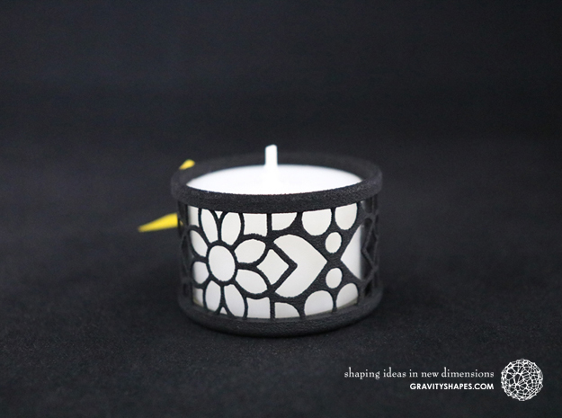 Set of 2 small tealight holders with Mosaic-2