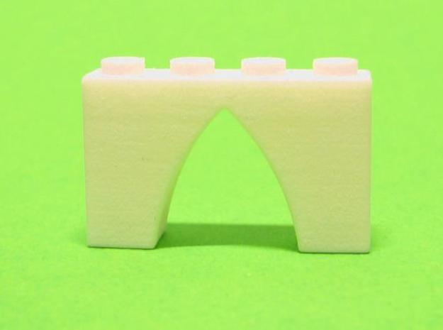 Pointed Gothic Arch 4 x 2 x 1 in White Strong & Flexible Polished
