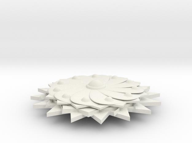 earing in White Natural Versatile Plastic