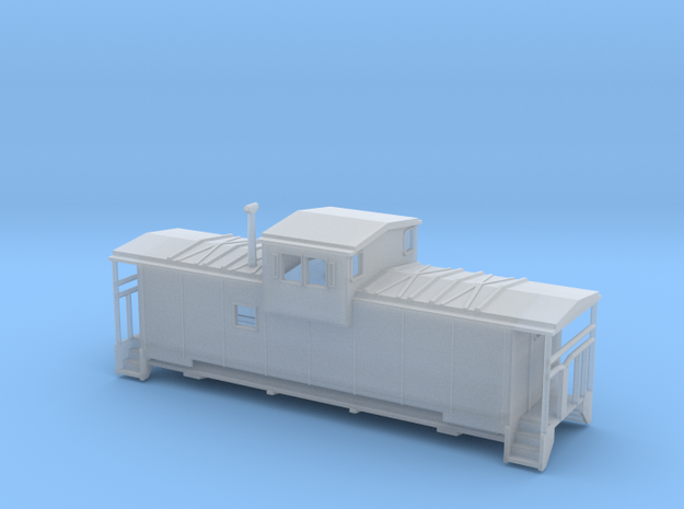 SantaFe Modern Caboose - Nscale in Smooth Fine Detail Plastic
