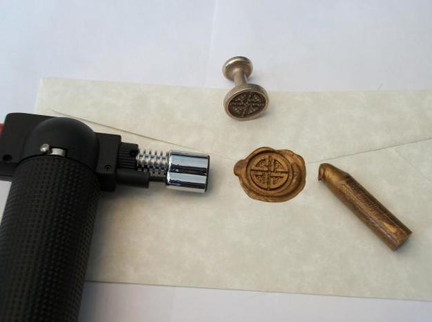 Shield Knot Wax Seal in Stainless Steel
