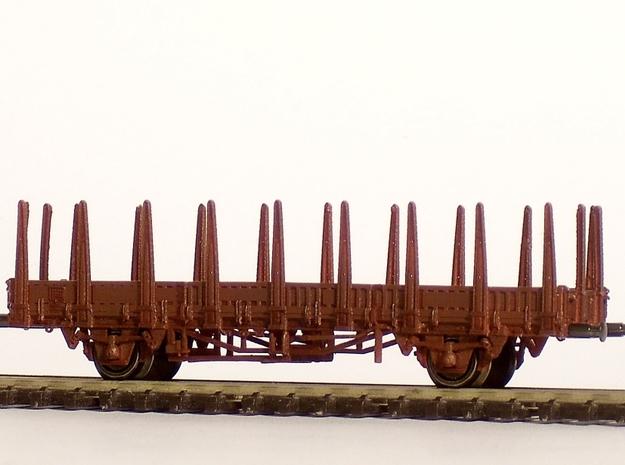1/160 Fährboot-Rungenwagen Rbmms 55 der DB in Smooth Fine Detail Plastic