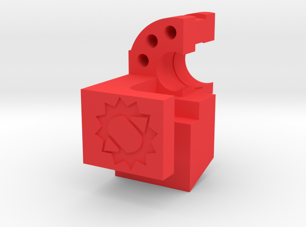 Canned Airlock in Red Processed Versatile Plastic