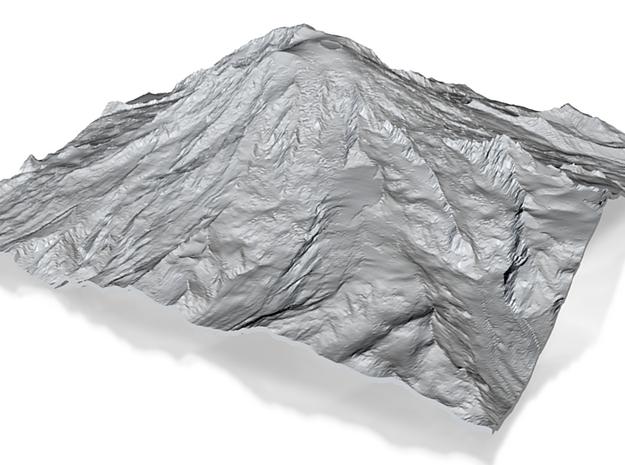 Mount Rainier (25cm square, 2mm thick) 3d printed