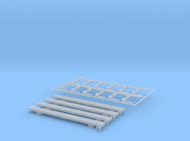 Logging cars 40 ft z scale in Smooth Fine Detail Plastic