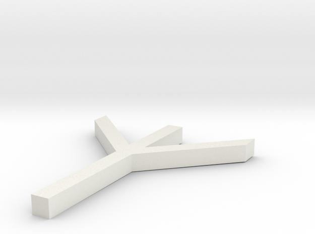 Rune Algiz in White Natural Versatile Plastic