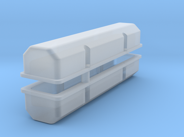SBC 1/18 Modular valve covers pair in Smooth Fine Detail Plastic