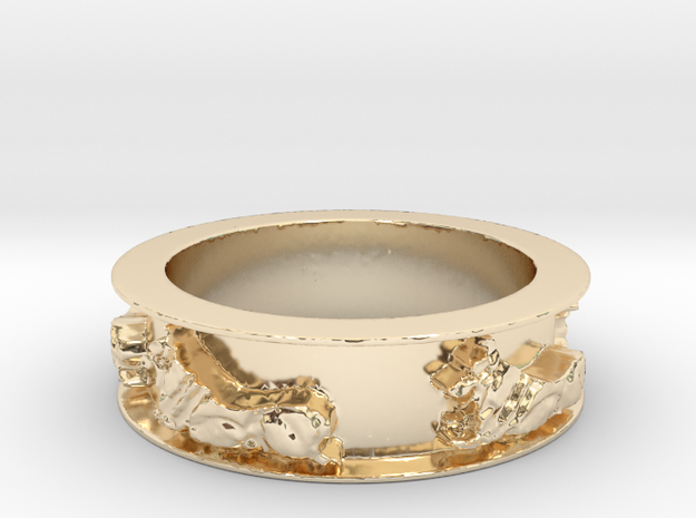 Rudy Times Five (Ring Size 8.75) in 14K Yellow Gold