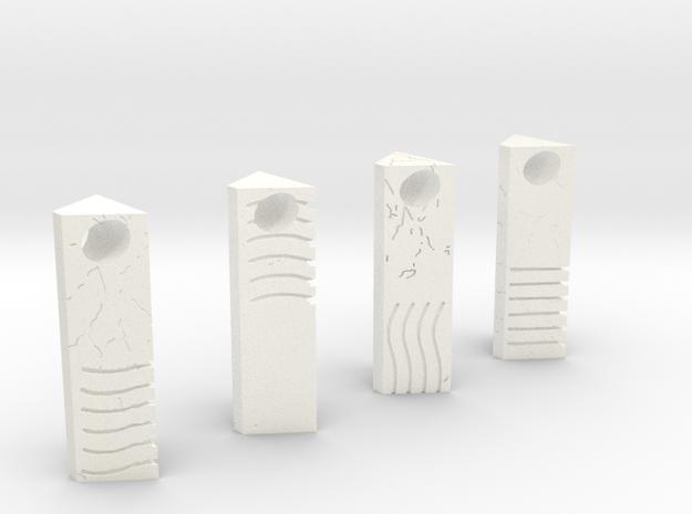 Element Stone Pendants (4 Pack) in White Processed Versatile Plastic