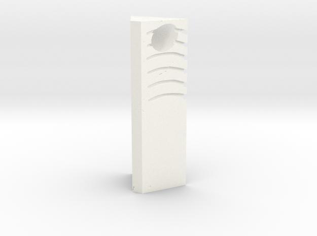 Wind Stone Pendant in White Processed Versatile Plastic