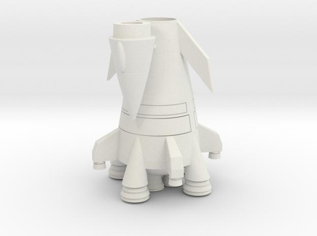 Davids Rocket BattleShip in White Natural Versatile Plastic