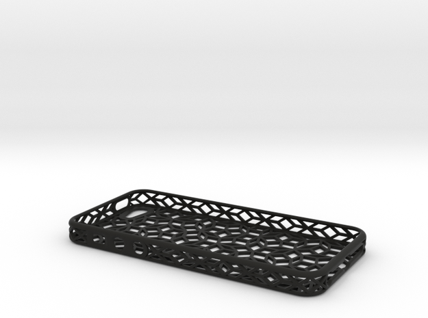 Iphone 5SE Penrose in Black Natural Versatile Plastic